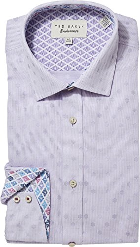 Ted Baker Men's racking Endurance Dress Shirt Purple 16-32/33