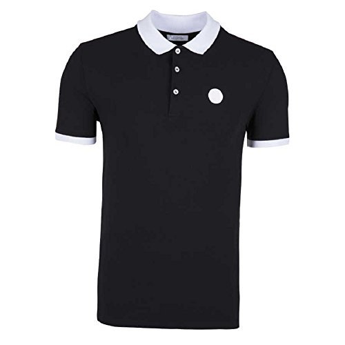 Versace Jeans Black Pique Polo T-Shirt (L)
