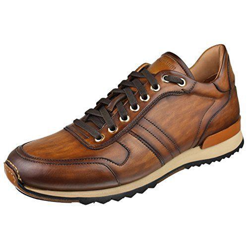 Magnanni Men's Shoes Retro Trainer Dress Sneaker 12 M Cuero