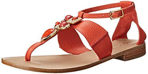 Trina Turk Women's Bellota Dress Sandal, Coral, 10 M US