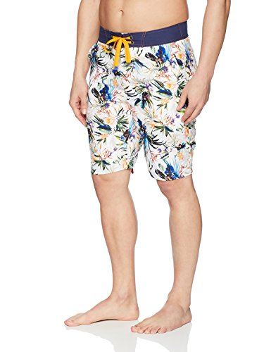 Robert Graham Men's Rumba Woven Swim Board Short, Multi, 38