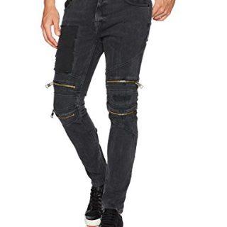 Just Cavalli Men's Black Motto Jean, Black Denim, 46