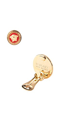 New Versace Red Medusa Gold-Plated Clip Signature Earrings