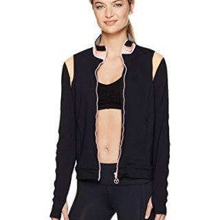 Trina Turk Recreation Women's Color Blocked Jacket, Black, S