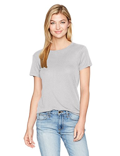 Michael Stars Women's 1x1 Slub Short Sleeve Crew Neck Tee, Tinsel, O/S