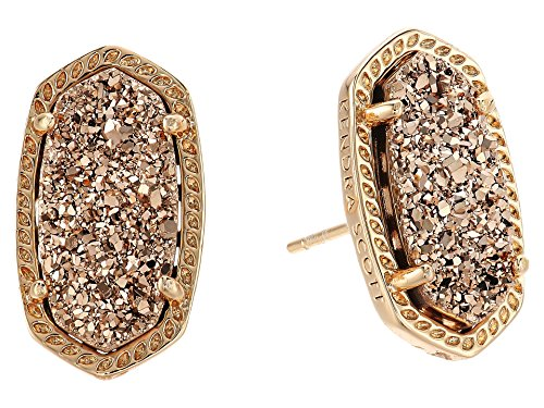Kendra Scott Women's Ellie Earring Rose Gold/Rose Gold Drusy Earring