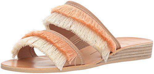 Dolce Vita Women's Haya Slide Sandal, Natural Fringe, 8 M US