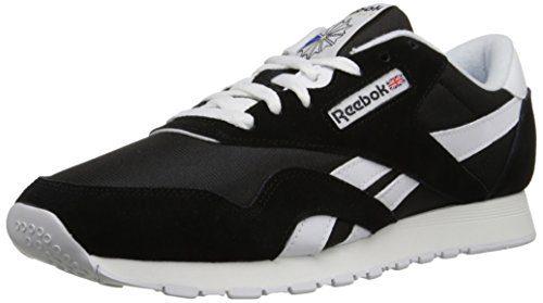 Reebok Men's Classic Sneaker, Black/White, 11M