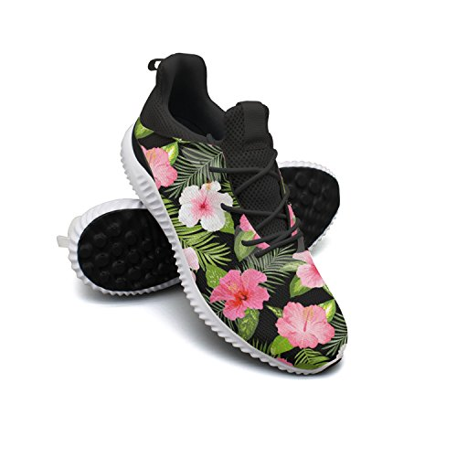 Tropical Flowers And Leaves Men Shoes Running Shoe Casual Sneakers