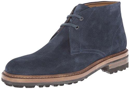 Magnanni Men's Buler Chukka Boot, Navy, 13 M US