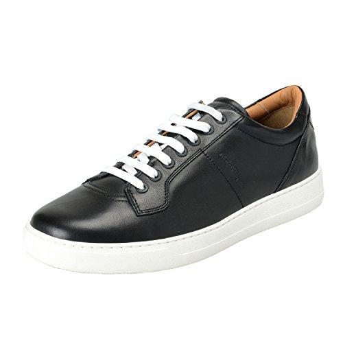 Salvatore Ferragamo Men's Glamour Black Leather Fashion Sneakers Shoes US 10.5EEE IT 9.5EEE EU 43.5EEE