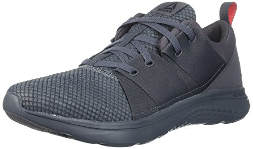 Reebok Men's RBK Astroride Athlux Run Sneaker, Ash Grey/Alloy/Black/Dayg, 10.5 M US