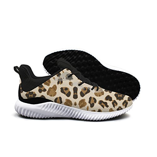 AKDJDS Golden The Black Leopard Cat Spots Pictures Men Shoes Running Shoe Casual Sneakers
