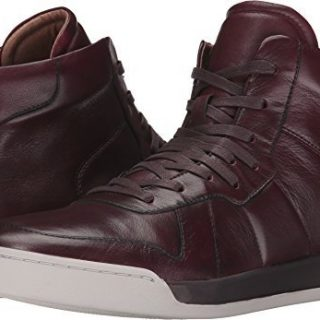 John Varvatos Men's Remy Hi Top Wine Boot