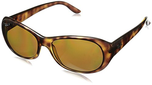 Ray-Ban Women's Polarized Oval Sunglasses, Havana, 55 mm