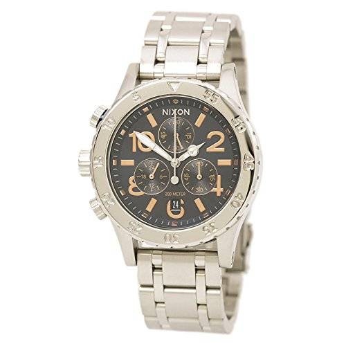 Nixon Women's '38-20 Chrono' Quartz Stainless Steel Casual Watch, Color:Silver-Toned