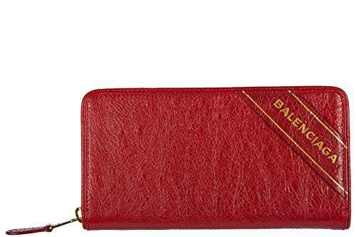 Balenciaga women's wallet leather coin case holder purse card bifold blanket con