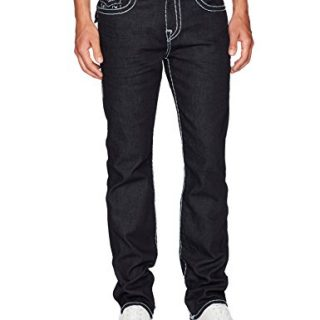 True Religion Men's Ricky Super T Straight Leg Jeans, Inglorious, 28