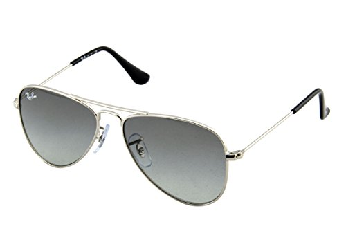 Ray-Ban Jr. Kids Aviator Kids Sunglasses Silver Shiny/Grey Metal - Non-Polarized - 50mm