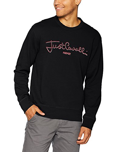 Just Cavalli Men's Logo Sweatshirt, Black, L