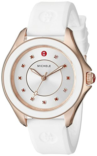 Michele Women's Cape Stainless Steel Watch with White Band