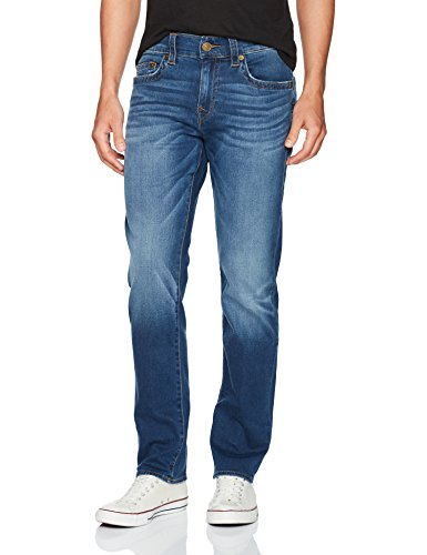 True Religion Men's Geno Slim Straight Jeans, Indigo Lake, 34