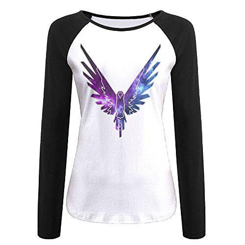 qingjin Women's Parrot Logo Logan Paul Logang Long Sleeve Raglan Tshirt