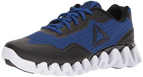 Reebok Men's Zigpulse-SE Sneaker, Knit-Black/Collegiate Royal/White, 11 M US