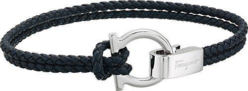 Salvatore Ferragamo Men's Double Wrap Bracelet Marine One Size