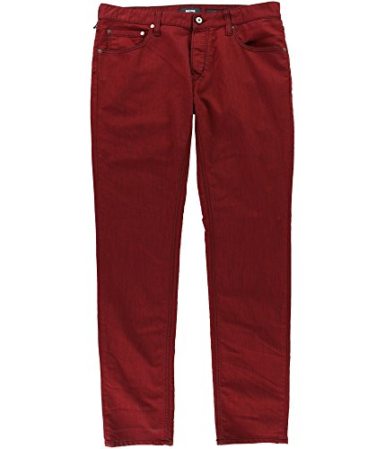 Just Cavalli Mens Contrast Stitching Slim Fit Jeans Red 32x34