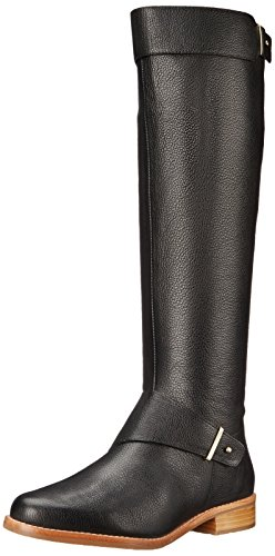 French Connection Women's Grant Riding Boot, Black Leather, 36 EU/6 M US