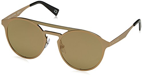 Marc Jacobs Men's Oval Sunglasses, Gold, 99 mm