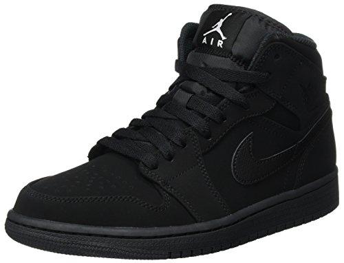 Nike Men's Air Jordan 1 Retro Mid Basketball Shoes Black/White-Black size 10.5 D(M)