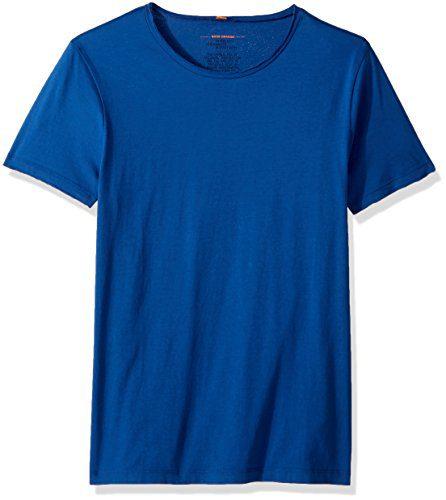 BOSS Orange Men's Tooles Crew Neck T-Shirt, Medium Blue, Large