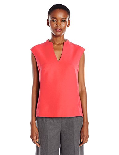 Ted Baker Women's Paysy High Neck Long Back Panel Top, Mid Orange, 2