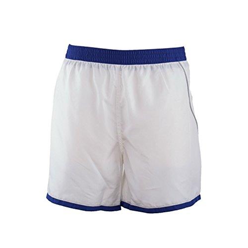 Just Cavalli Men White Blue Trim Surfer Shorts Beach Swim Trunks Light Swimsuit XL