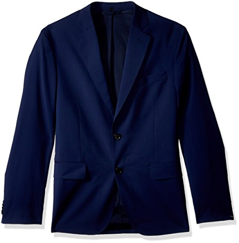 J.Lindeberg Men's Comfort Wool Blazer, Mid Blue, 50