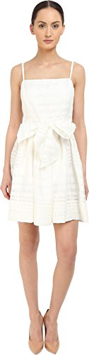 Kate Spade New York Women's Ribbon Organza Bow Dress Fresh White 4