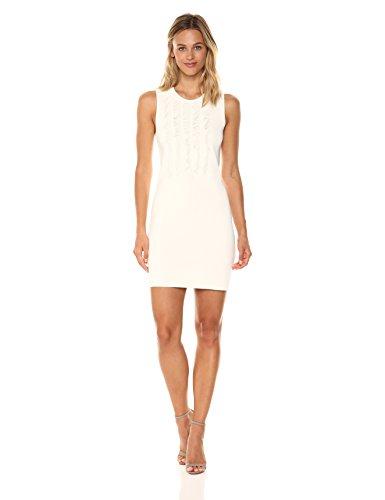A|X Armani Exchange Women's Sleeveless Fringe Dress, Cream, X-Small