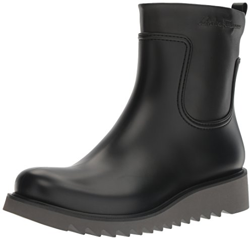 Salvatore Ferragamo Men's Freddo Rain Boot, Black, 43 (US Men's 9) D-Medium