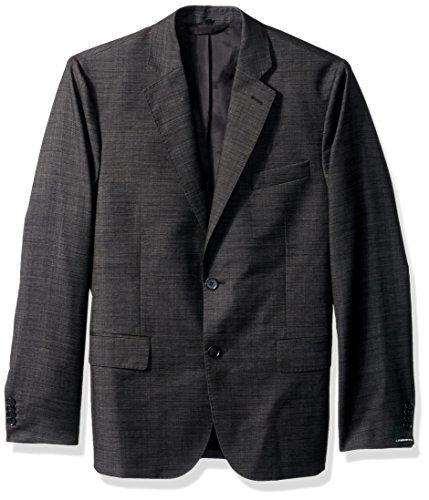 J.Lindeberg Men's 140s Platinum Wool Blazer, Almost Black, 50