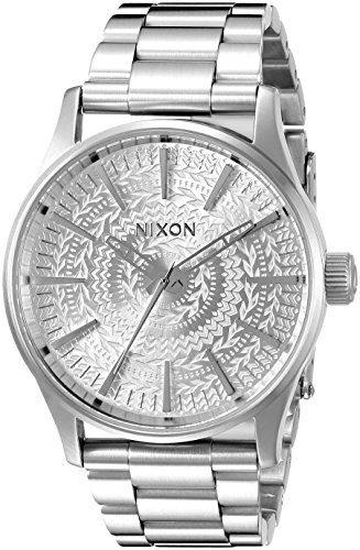 Nixon Men's Sentry 38 SS Analog Display Japanese Quartz Silver Watch