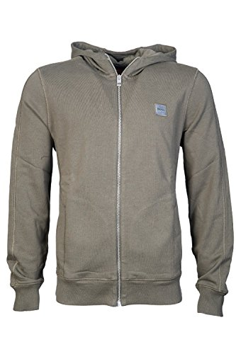 HUGO BOSS Mens Zip Up/Button Cardigan Hoody Sweatshirt ZTADIUM Size L Blue