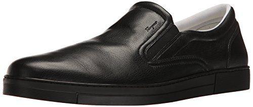 Salvatore Ferragamo Men's Miraggio Sneaker, Black 1, 45.5 (US Men's 11.5) D-Medium