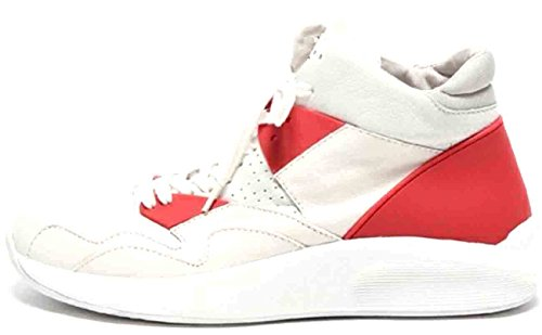 Article Number Nº Mens Mid-cut Sneakers Shoes White/Red (13)