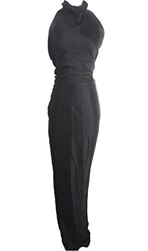 Roberto Cavalli Halter Wrap Column Gown
