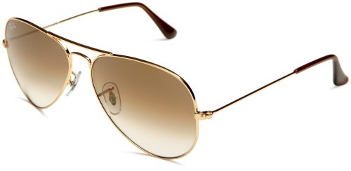 RayBan 001/51 Size 55 Gold/Crystal Brown Gradient Sunglasses