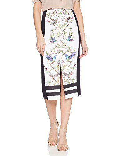 Ted Baker Women's Banton Skirt, White, 2