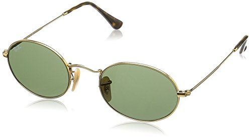 Ray-Ban Metal Unisex Round Sunglasses, Gold, 51 mm