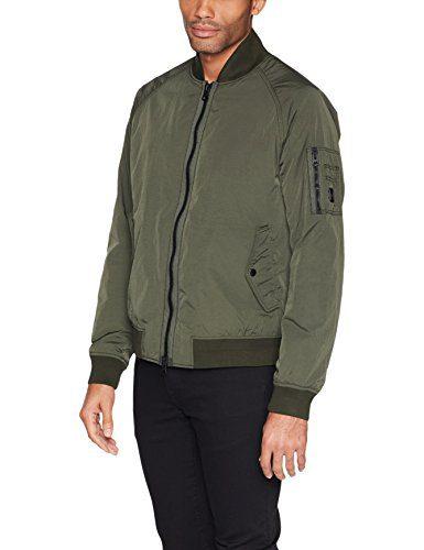 BOSS Orange Men's Onito-D Outerwear-Jacket, Dark Green, 38R